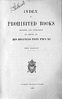 Taking a look at the 'Index of Prohibited Books'