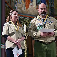 Religious emblems presented during Scout Saturday