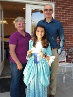 Student's hand-sewn costume wins blue ribbon at state fair