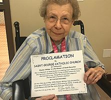 Centenarian celebrates birthday at St. George Parish