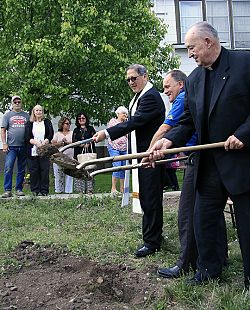 St. Henry Parish breaks ground for social hall