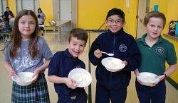 Our Lady of Lourdes Students Sacrifice Friday Lunch at Lent