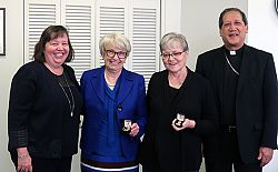 Madeleine Medal presented to longtime volunteers on diocesan finance boards