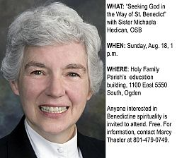 Learn about Benedictine way of life from oblate director