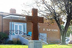 New cross is an 'inspiration,' principal says